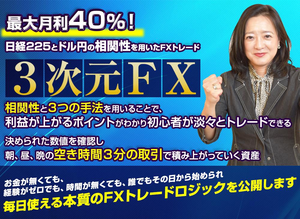 持田有紀子の3次元FX
